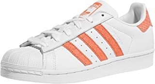 adidas Womens Originals Superstar Trainers in Footwear White/Chalk Coral.