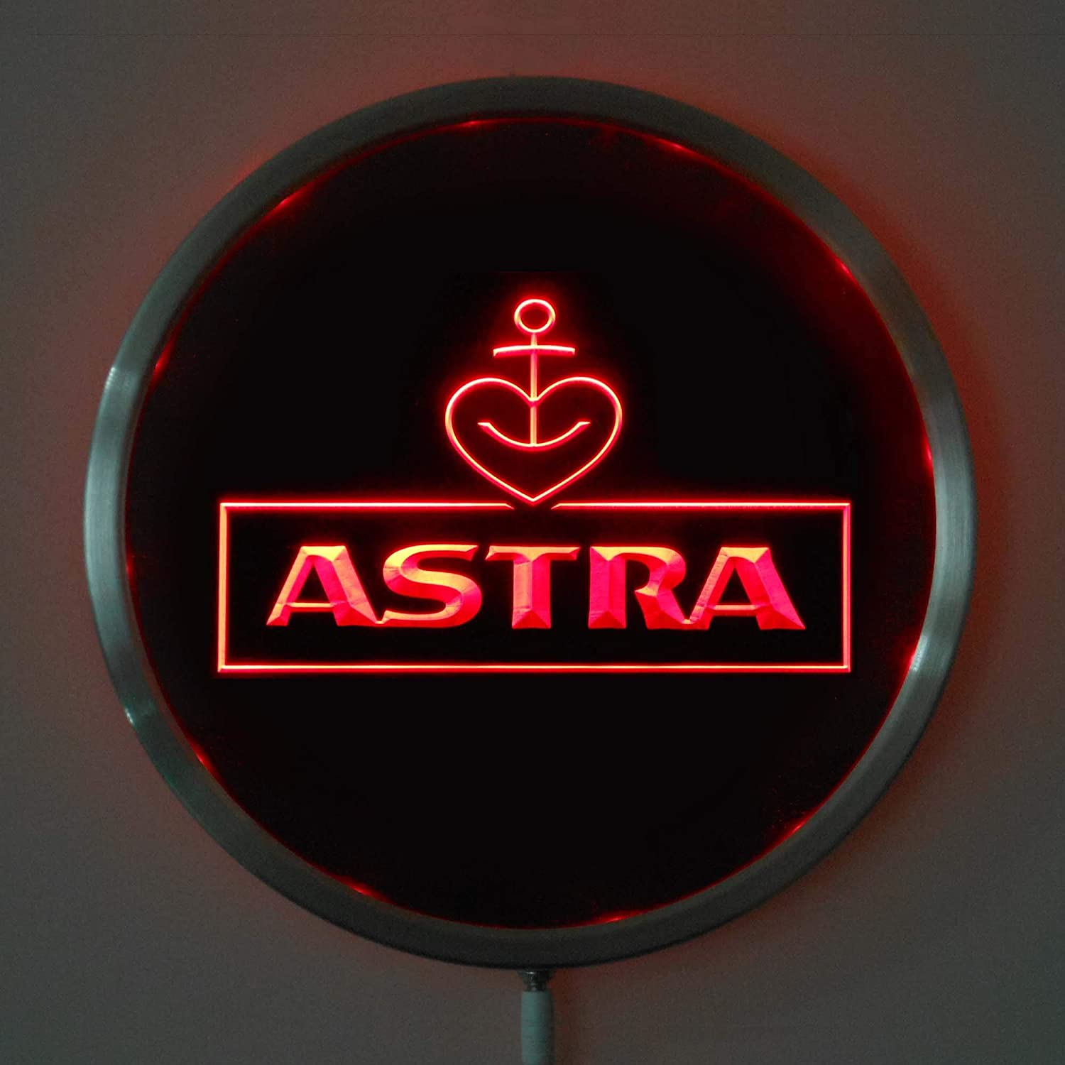 ZFRANC Astra Houston Mall Beer 10 Inches Round LED Sign Neon Cave Light R Man Max 60% OFF