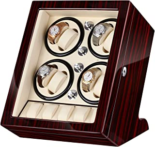 Watches Automatic Watch Winder for 13 Watches Gift Gifts for Men Red Brown
