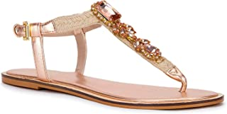 Saint G Womens Rose Gold Metallic Hand Crafted Leather Flats