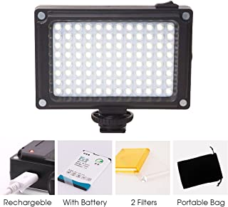 Rechargeble 96 LED Video Light,Ulanzi Pocket Mini on Camera Led Light with 2500mAh Battery and Magnet Filters for Sony Panasonic Canon Nikon DSLR Camcorder
