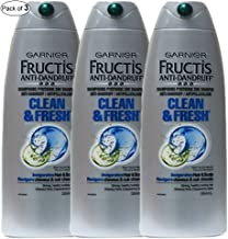 Garnier Fructis Anti-Dandruff Clean&Fresh Shampoo 384ml (Pack of 3)