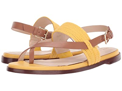 Cole Haan Anica Thong Sandal (Bright Yellow/Pecan) Women