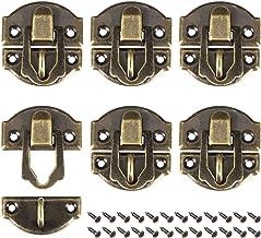 6 stks Box Klink - Antiek Messing Decoratieve Hasp Sieraden Houten Doos Hasp Klink Lock met Schroeven