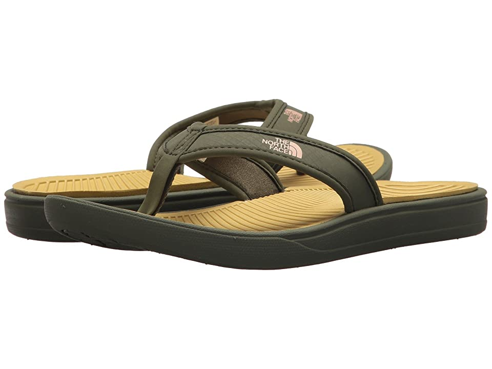 The North Face Base Camp Lite Flip-Flop (Olivenite Yellow/Four Leaf Clover) Women