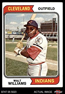 1974 Topps # 418 Walt Williams Cleveland Indians (Baseball Card) Dean's Cards 4 - VG/EX Indians