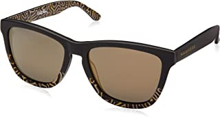 Hawkers Men's Keith Haring Bicolor Gold KHARX02 Rectangular Sunglasses, Gold, 12 mm