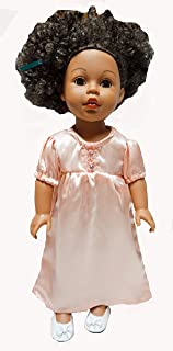 Doll Clothes Superstore Tangerine Satin Nightgown Fits 18 Inch Girl Dolls Like American Girl