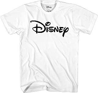 Disney Officially Licensed Black Logo Men's Adult Graphic Tee T-Shirt