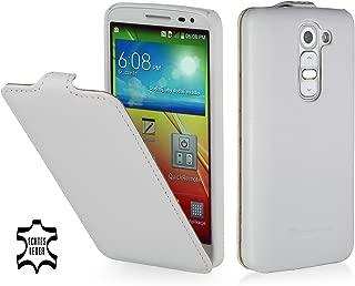 StilGut UltraSlim Genuine Leather Case for LG G2 Mini White LGG2MNSTVTWE