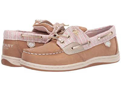 Sperry Kids Songfish (Little Kid/Big Kid) (Linen Oat Beach Stripe) Girl