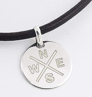 Colgante de plata para mujer - Collar Puntos cardinales - Collar de plata personalizado