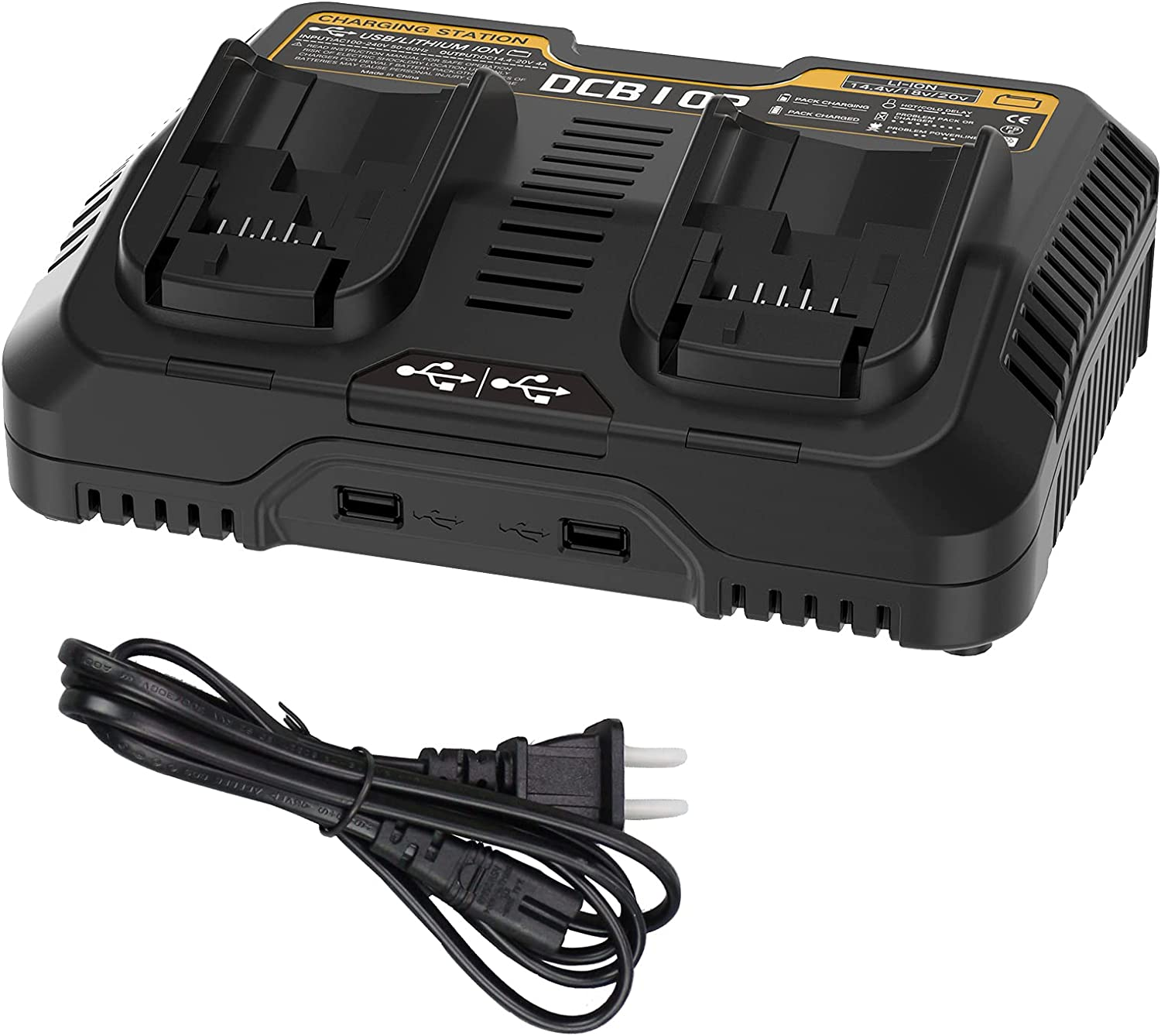 Super Special SALE held 4A DCB102 Dual Port Charger DCB112 Bombing new work for Replacement Dewalt DCB118