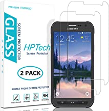 HPTech Galaxy S6 Active Screen Protector - (2-Pack) Tempered Glass for Samsung Galaxy S6 Active Bubble Free 9H Hardness with Lifetime Replacement Warranty