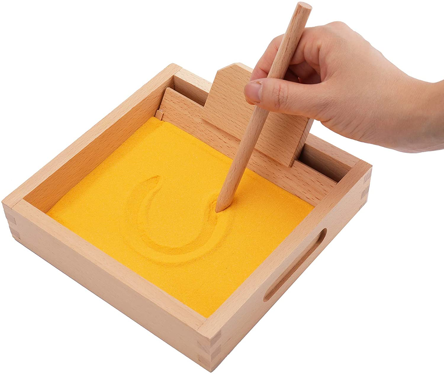 Amazon.com: Suwimut Montessori Letter Formation Sand Tray with Wooden Pen Educational Toys, Alphabet and Number Learning Writing Exercises Tool: Toys & Games