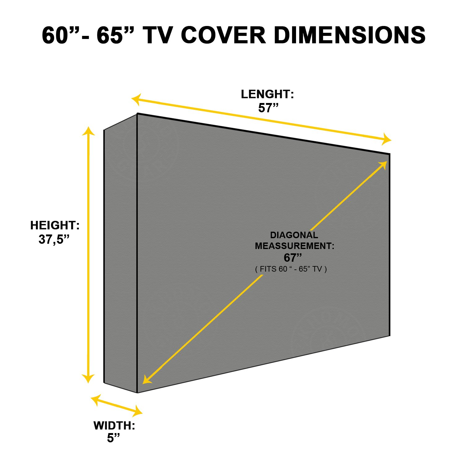 "TV Cover Outdoor Khomo Gear Weatherproof 55/""-58/'/' Protector LCD LED Beige"