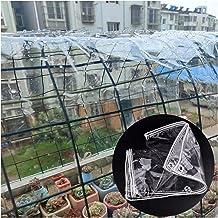 Liangjun Afdekzeil, pvc, waterdicht, stofdicht, voor buiten, balkon, raam, broeikas, luifels met ogen, 0,5 mm dik, persona...