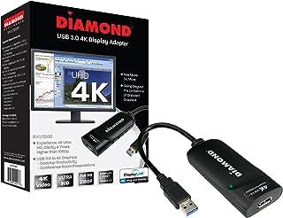 Diamond Multimedia UGA USB 3.0/2.0 to Ultra HD 4K 3840 x 2160 HDMI Video Graphics Adapter (BVU5500H) USB 3.0