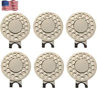 Amy Sport Golf Ball Marker Hat Clip Magnetic Value 3 6 9 Pack Set, Silver Durable Removable Attaches Easily to Hats Caps Belt