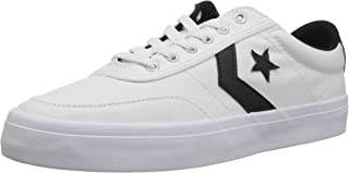 Converse COURTLANDT Low TOP Sneaker, White Black, 5 M US