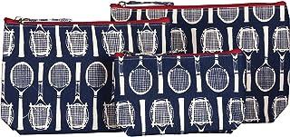 rockflowerpaper Wimbledon Tennis, Kosmetiktasche, Make-up- und Reisetaschen, Segeltuch, Marineblau, 3 Stück