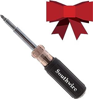 Southwire Tools & Equipment 59723940 12-In-1 Multi-Bit Screwdriver, Interchangeable Bits, Comfort Grip Handle, hex 1/4