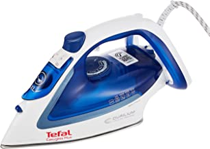 TEFAL Easygliss Durilium Airglide Soleplate steam Iron, 2400 Watts, Blue/white, FV5715M0