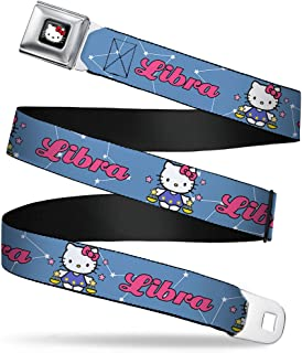 Buckle-Down Seatbelt Belt - Hello Kitty Zodiac Libra - 1.5