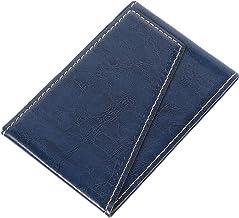 UKCOCO Capa Carteira para Telefone Stick No Slot de Crédito Fino Capa Capa Carteira de Couro Pu Capa à Prova de Choque Azul