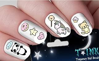 Cute Kawaii Summer Set Mixture assortment #2 Nail Art Wraps Water Transfers Nails Decals Nail Stickers TI76