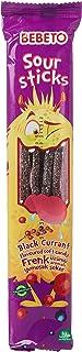 Bebeto Licorice Blackcurrant Sour Sticks, 35 gm