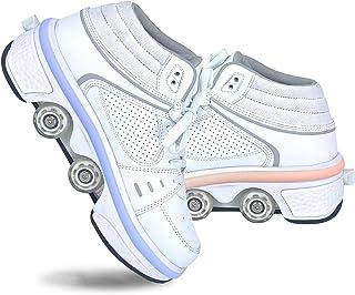 LDTXH Zapatos con Ruedas Zapatos Skate para Mujeres, Unisex Automática De Skate Zapatillas, Hombres, niños Zapatos con Rue...