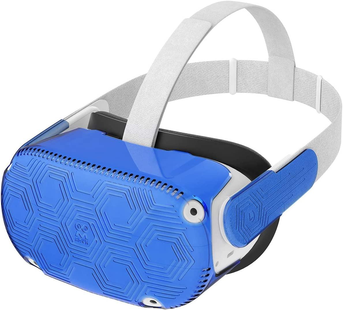 AMVR VR Headset Protective Shell, Light & Durable Front Face Cover for Oculus Quest 2 Accessories, Preventing Collisions and Scratches (Blue)