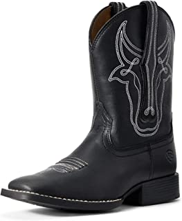 ARIAT Boys' Bully Bustin' Western Boot Square Toe Black