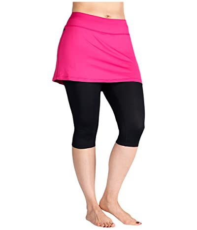 Skirt Sports Lotta Breeze Capri (Fuchsia/Black) Women