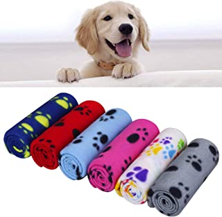 """AK KYC 6 Pack Dog Blanket 24""""x28"""" Mixed Blanket for Puppy Cushion Fleece Blankets Dog Cat Pet Sleep Mat Pad Bed Cover with..."""