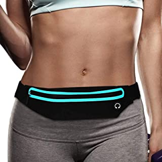 Filoto Running Belt, Running Waist Pack for Women&Men USA Patented Hands-Free Reflective Runner Pouch Belt Fitness Workout Bag No-Bounce Adjustable Sport Fanny Pack Phone Holder for iPhone 11 X 8 7 6