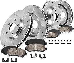 Rotors 2 Ceramic Brake Pads Callahan CDS02335 FRONT 277mm D//S 4 Lug fit 1987-1993 Ford Mustang GT V8 Hardware