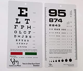 Valencia Med Two in One Pocket Eye Chart, Rosenbaum/Snellen