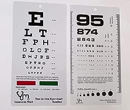 Valencia Med Two in One Pocket Eye Chart, Rosenbaum/Snellen