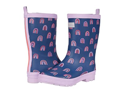 Hatley Kids Rainbow Party Matte Rain Boots (Toddler/Little Kid) (Blue) Girl