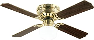 Westinghouse Lighting 7213800 Casanova Supreme 42-Inch Polished Brass Indoor Ceiling Fan, Light Kit with Opal Schoolhouse Glass