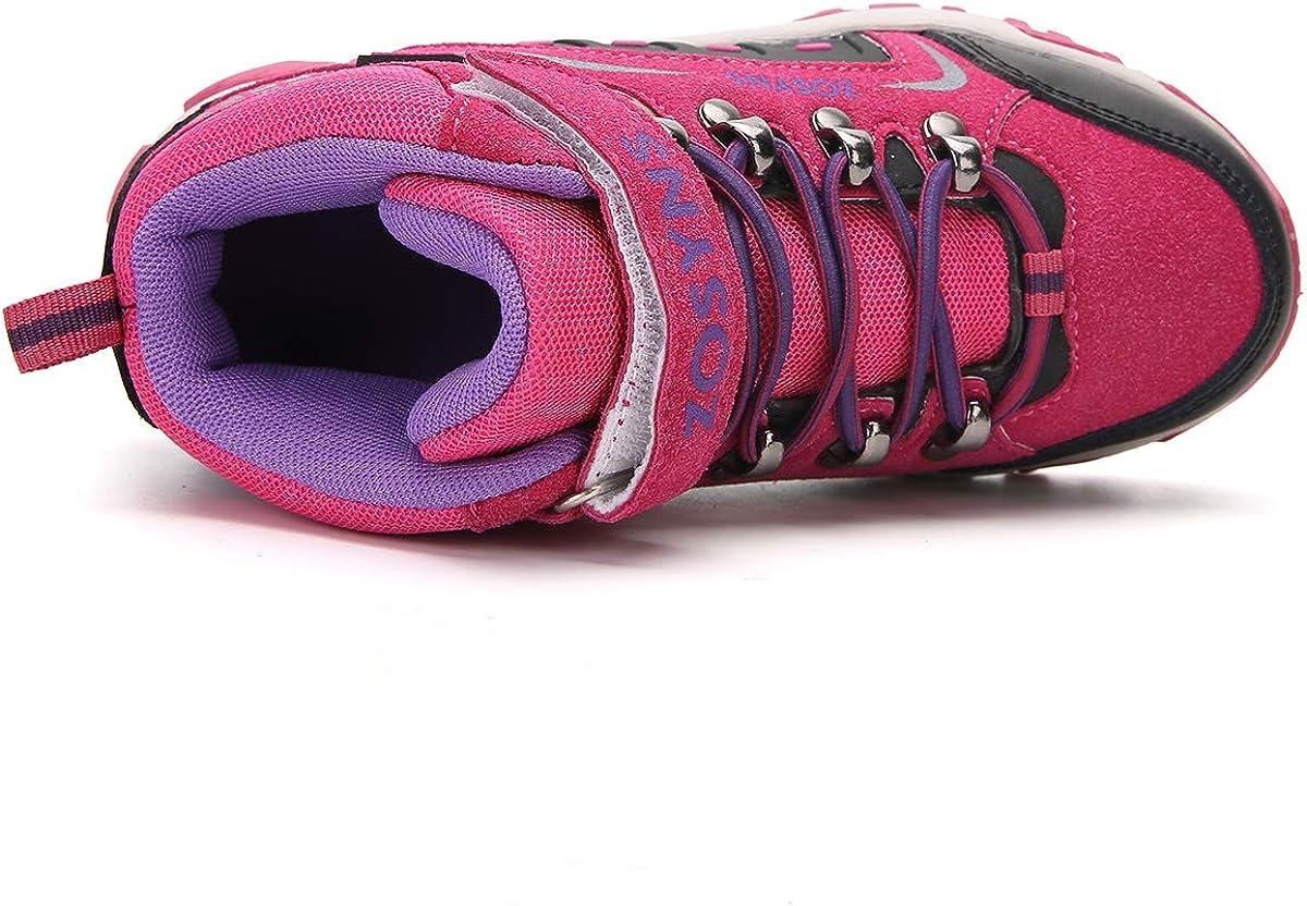 ZOSYNS Chaussures de Randonn/ée Enfant Chaussures Trekking Gar/çon Bottes et Boots pour Marche et Trekking Enfant Chaussures de Sport Multisports Outdoor Baskets Running Chaussures Enfant Filles