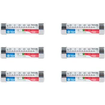 Taylor Freezer & Refrigerator Kitchen Thermometer, 6 Count