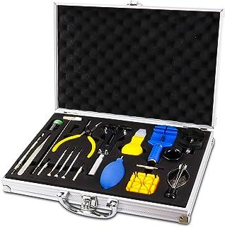 Qfun Kit de Réparation de Montre, Ensemble D'outils de Barre de Ressort Professionnel, Ensemble D'outils de Broche de Lien...
