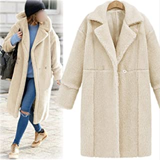 Sexy Stores Wool Blend Coat Women Long Sleeve Thick Turn-Down Collar Jacket Casual Autumn