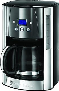 Russel Hobbs Machine à Café, Cafetière Filtre 1,8L Inox, 12 Tasses, Programmable, Auto-Nettoyante - Gris 23241-56 Luna
