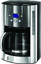 Russell Hobbs Digitale Kaffeemaschine Luna grau, programmierbarer Timer, bis 12 Tassen, 1,5l Glaskanne, 1000W, Warmhalteplatte, Abschaltautomatik, Filterkaffeemaschine 23241-56