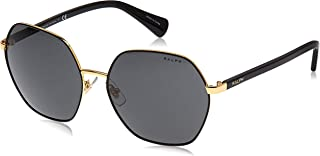 Ray-Ban Women's 0RA4124 Sunglasses, (Shiny Gold with Black), 60