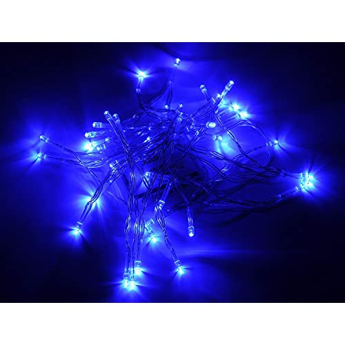 Karlling Battery Operated Blue 40 LED Fairy Light String Wedding Party Xmas Decorations(Blue)